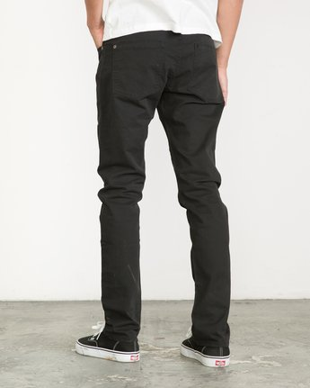 2 Daggers Slim-Straight Twill Pants Black M3301DAG RVCA