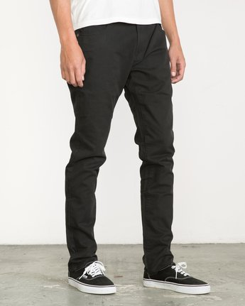 5 Daggers Slim-Straight Twill Pants Black M3301DAG RVCA