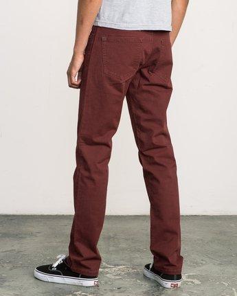 2 Daggers Slim-Straight Twill Pants Red M3301DAG RVCA