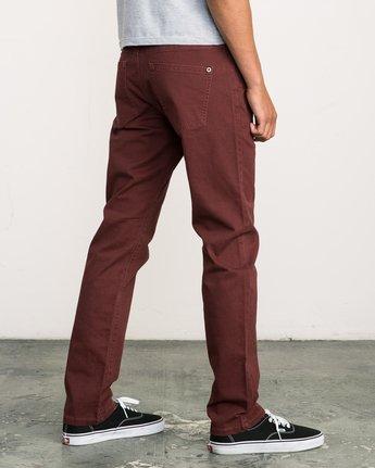 4 Daggers Slim-Straight Twill Pants Red M3301DAG RVCA