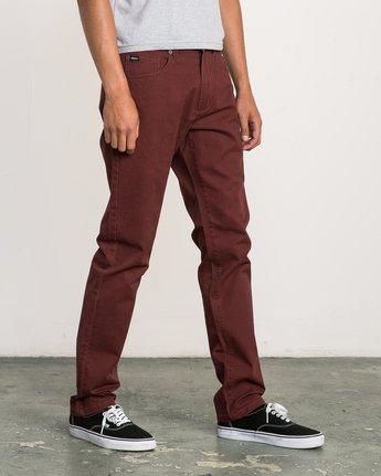 5 Daggers Slim-Straight Twill Pants Red M3301DAG RVCA
