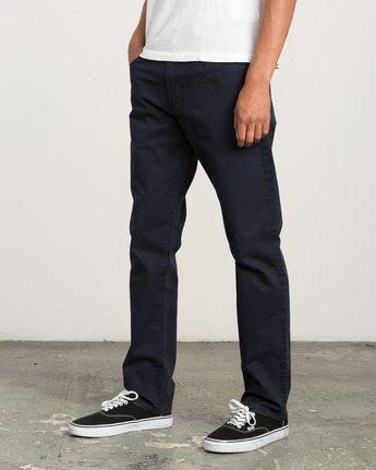 1 Daggers Slim-Straight Twill Pants Blue M3301DAG RVCA