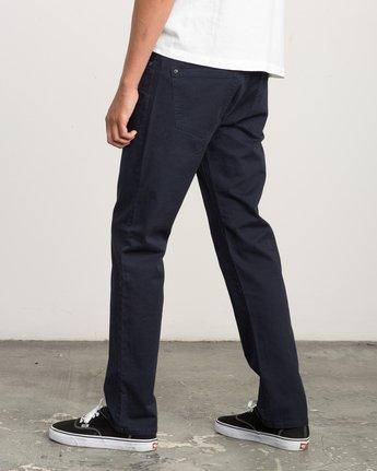 2 Daggers Slim-Straight Twill Pants Blue M3301DAG RVCA