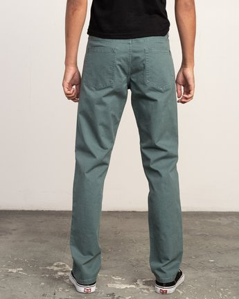 3 Daggers Slim-Straight Twill Pants Green M3301DAG RVCA
