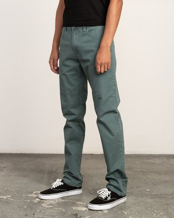 1 Daggers Slim-Straight Twill Pants Green M3301DAG RVCA