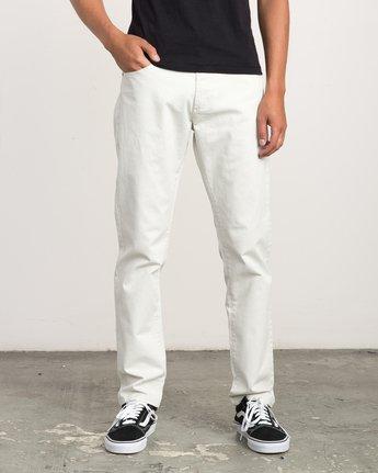 0 Daggers Slim-Straight Twill Pants Silver M3301DAG RVCA