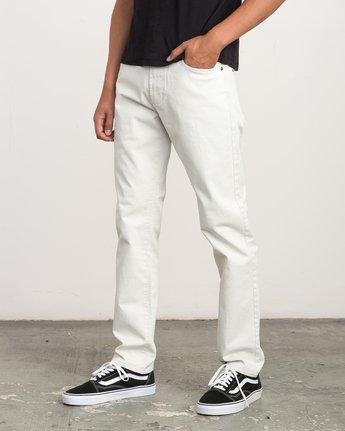 1 Daggers Slim-Straight Twill Pants Silver M3301DAG RVCA