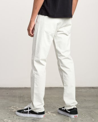 2 Daggers Slim-Straight Twill Pants Silver M3301DAG RVCA