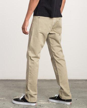 2 Daggers Slim-Straight Twill Pants White M3301DAG RVCA