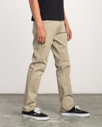 5 Daggers Slim-Straight Twill Pants White M3301DAG RVCA