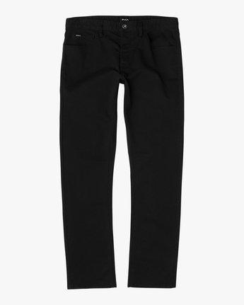 5 Stay RVCA Straight Fit Pants Black M3306SRP RVCA