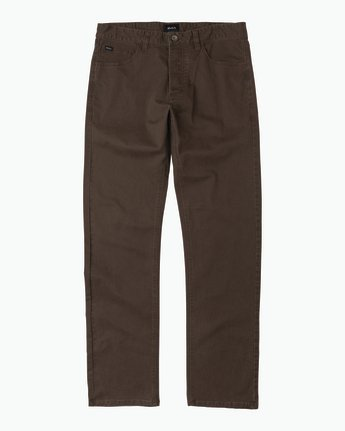6 Stay RVCA Straight Fit Pants Brown M3306SRP RVCA