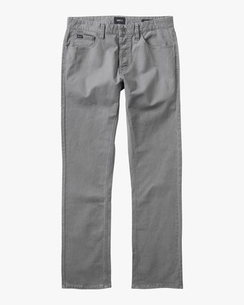 5 Stay RVCA Straight Fit Pants Grey M3306SRP RVCA