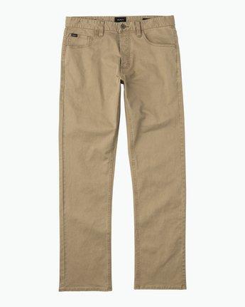 6 Stay RVCA Straight Fit Pants Beige M3306SRP RVCA
