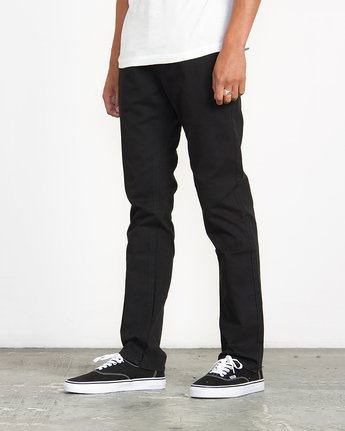 1 Stay RVCA Straight Fit Pants Black M3306SRP RVCA