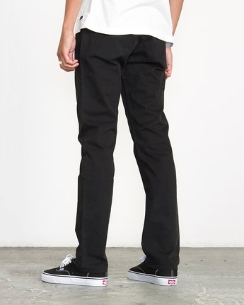 2 Stay RVCA Straight Fit Pants Black M3306SRP RVCA