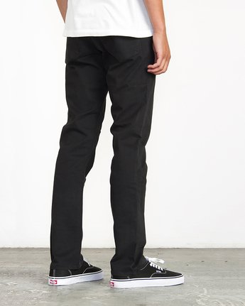 3 Stay RVCA Straight Fit Pants Black M3306SRP RVCA
