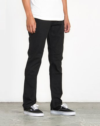 4 Stay RVCA Straight Fit Pants Black M3306SRP RVCA