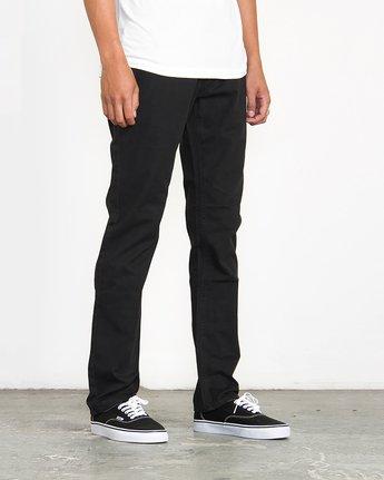 4 Stay RVCA Straight Fit Pants Black M3306SRP RVCA