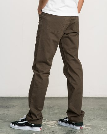 3 Stay RVCA Straight Fit Pants Brown M3306SRP RVCA
