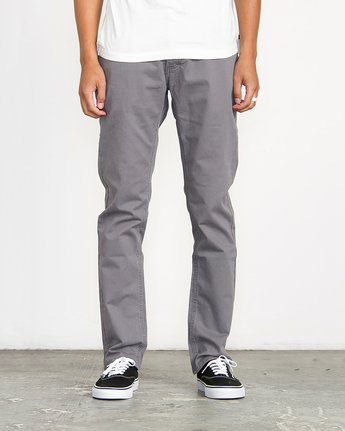 0 Stay RVCA Straight Fit Pants Grey M3306SRP RVCA