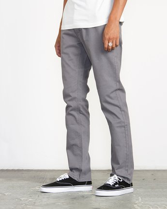 1 Stay RVCA Straight Fit Pants Grey M3306SRP RVCA