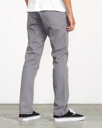 3 Stay RVCA Straight Fit Pants Grey M3306SRP RVCA