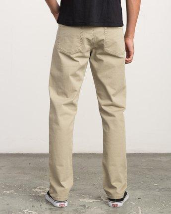 3 Stay RVCA Straight Fit Pants Beige M3306SRP RVCA