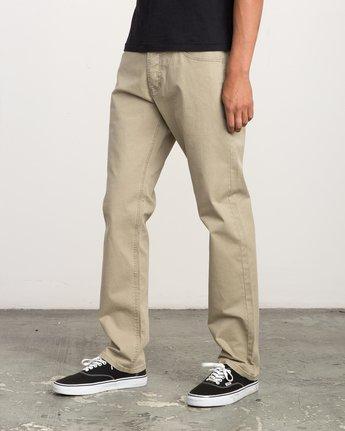 1 Stay RVCA Straight Fit Pants Beige M3306SRP RVCA