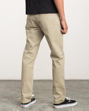 4 Stay RVCA Straight Fit Pants Beige M3306SRP RVCA