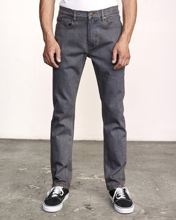 0 Daggers Pigment Dyed Slim Fit Denim Grey M330VRDP RVCA