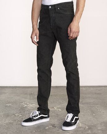 3 DAGGERS PGMNT CORD slim fit PANT Black M339VRDC RVCA