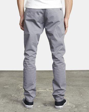 3 DAGGERS SLIM FIT CHINO pant Grey M3443RDC RVCA