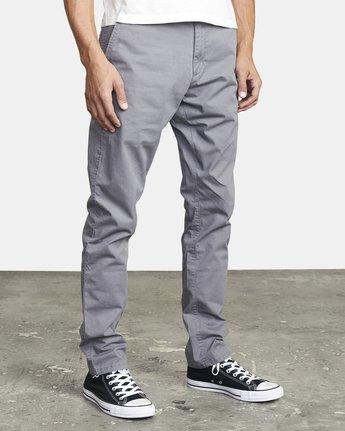 7 DAGGERS SLIM FIT CHINO pant Grey M3443RDC RVCA