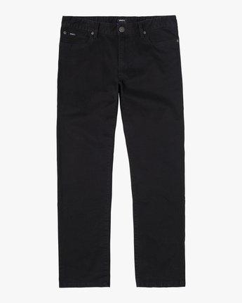 1 DAGGERS SLIM FIT TWILL PANT Black M3453RDT RVCA