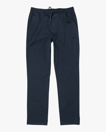 9 WEEKEND ELASTIC STRAIGHT FIT PANT Blue M3473RWE RVCA