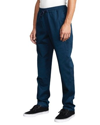 0 WEEKEND ELASTIC STRAIGHT FIT PANT Blue M3473RWE RVCA