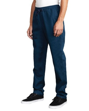 1 WEEKEND ELASTIC STRAIGHT FIT PANT Blue M3473RWE RVCA