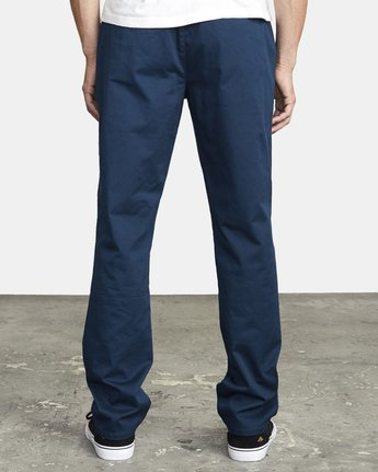4 WEEKEND ELASTIC STRAIGHT FIT PANT Blue M3473RWE RVCA