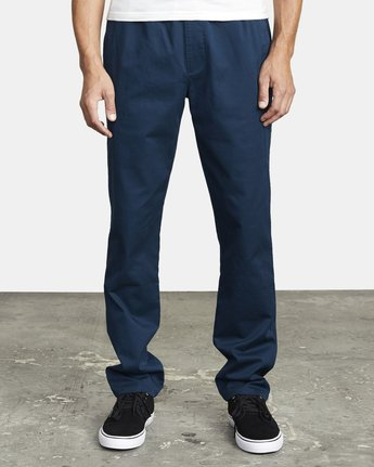 3 WEEKEND ELASTIC STRAIGHT FIT PANT Blue M3473RWE RVCA