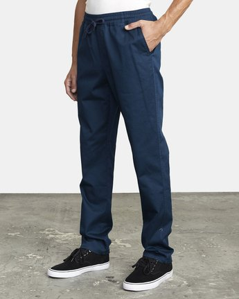5 WEEKEND ELASTIC STRAIGHT FIT PANT Blue M3473RWE RVCA