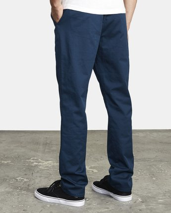 6 WEEKEND ELASTIC STRAIGHT FIT PANT Blue M3473RWE RVCA