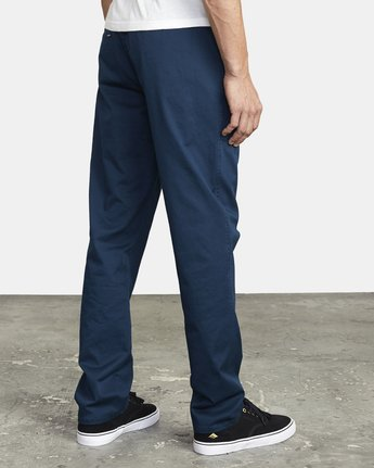 7 WEEKEND ELASTIC STRAIGHT FIT PANT Blue M3473RWE RVCA