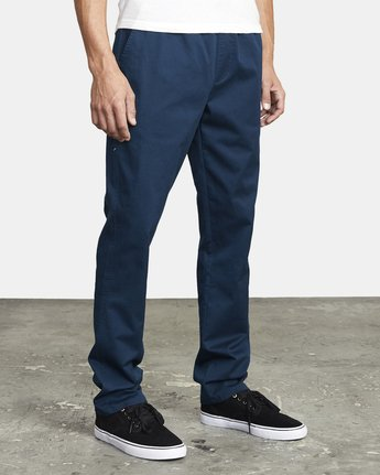 8 WEEKEND ELASTIC STRAIGHT FIT PANT Blue M3473RWE RVCA