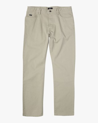 9 week-end TWILL STRAIGHT FIT PANT Beige M3483RWT RVCA