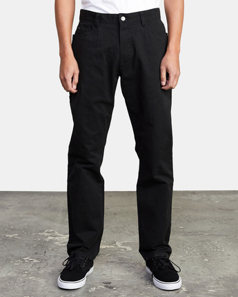 0 week-end TWILL STRAIGHT FIT PANT Black M3483RWT RVCA