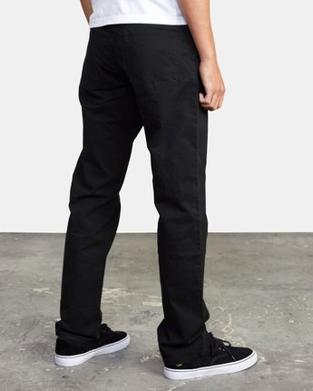 7 week-end TWILL STRAIGHT FIT PANT Black M3483RWT RVCA