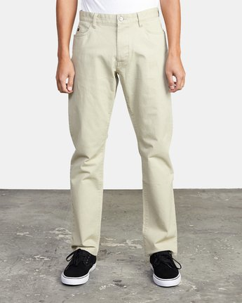 2 week-end TWILL STRAIGHT FIT PANT Beige M3483RWT RVCA