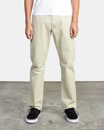 3 week-end TWILL STRAIGHT FIT PANT Beige M3483RWT RVCA