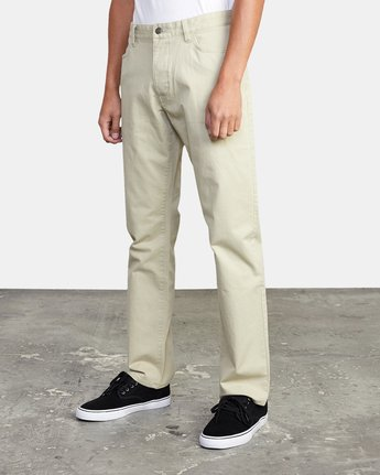 5 week-end TWILL STRAIGHT FIT PANT Beige M3483RWT RVCA